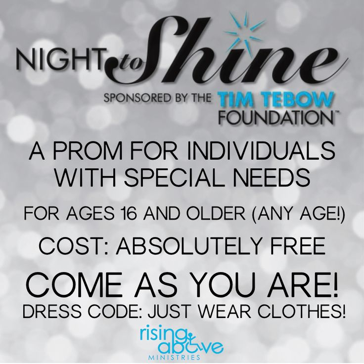 Night To Shine - a prom for individuals with special needs ages 16+ sponsored by the Tim Tebow Foundation. February 12, 2016 at The River Church in Cookeville, TN. #NighttoShine #TimTebowFoundation
