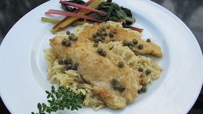 Piccata Chicken – Dinner in 25 minutes or less!   – Main Dishes