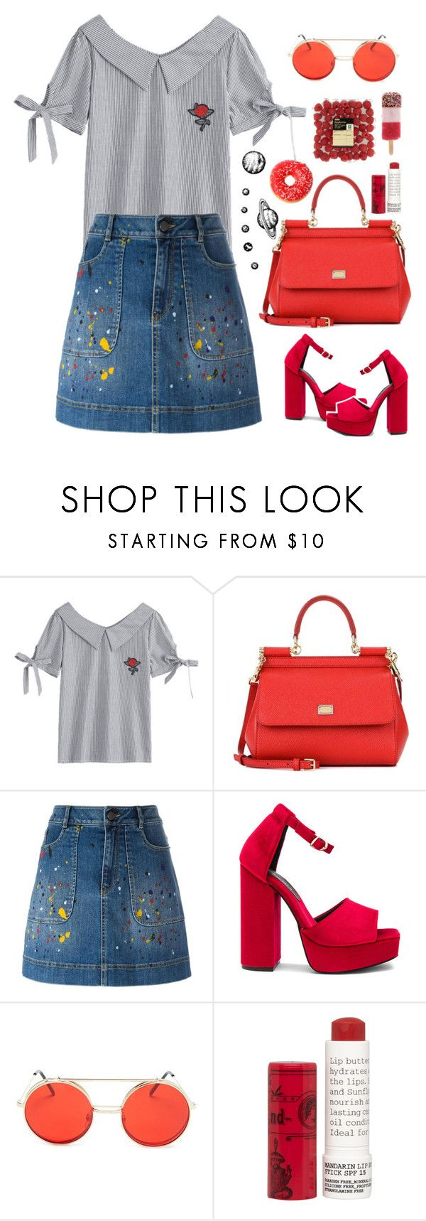 """""""Untitled #238"""" by idkwalsh ❤ liked on Polyvore featuring Dolce&Gabbana, Alice + Olivia, Jeffrey Campbell, Forever 21 and Korres"""