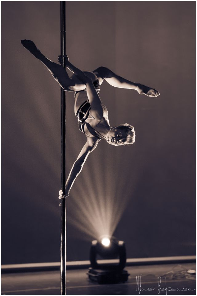 Pole Picture of the Day: Heidi Coker taken by Nina Saksman Photography during her Winning Pole Art performance