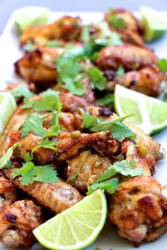 Spicy Cilantro-Lime Baked Chicken Wings (whole 30 and paleo approved)