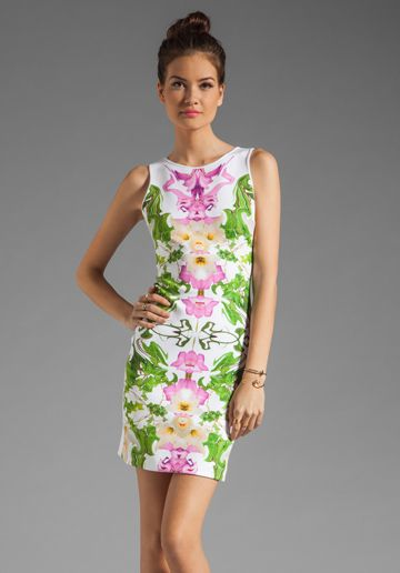 Clover Canyon Flower Filigree Neoprene Dress in Multi  spring thing