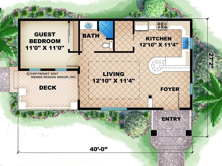 first floor plan of cottage craftsman house plan 60564