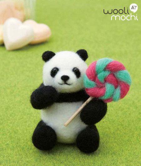 Panda & Lollipop Needle Felting Kit by WooliMochi on Etsy, $12.00
