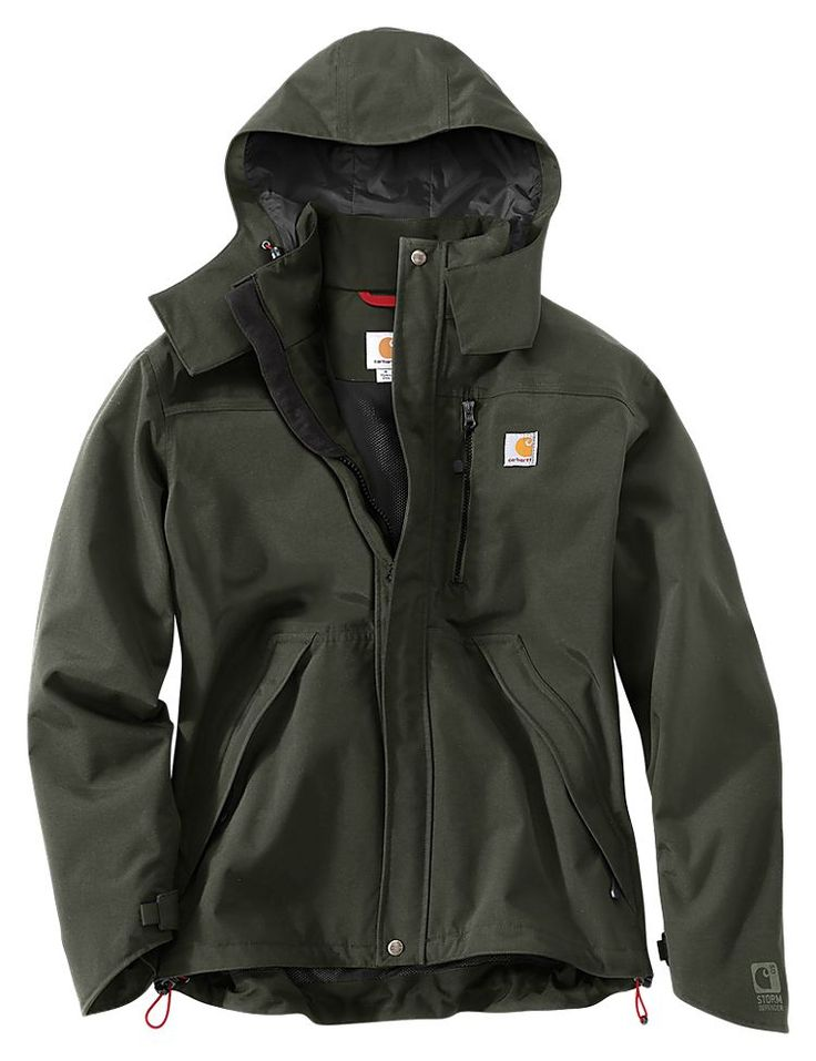 Carhartt Waterproof Breathable Shoreline Jackets for Men | Bass Pro Shops: The Best Hunting, Fishing, Camping & Outdoor Gear