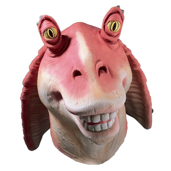 Standard Jar-Jar Binks Kids Vinyl 3/4 Mask - Star Wars Masks http://www.officialstarwarscostumes.com/jar-jar-binks-costumes/jar-jar-binks-masks/kids-jar-jar-binks-masks/992506