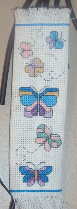 a butterfly bookmarkCrafts Ideas, X Stitches Bookmarks, Diy Crosses, Crosses Stich, Crosses Stitches, Book Mark, Stich Bookmarks, Cross, Butterflies Bookmarks