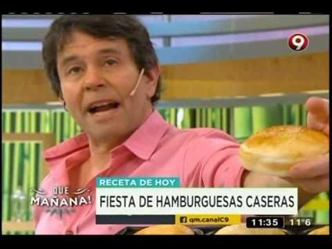 (8) Recetas de hoy: Hamburguesas caseras con aros de cebolla - YouTube