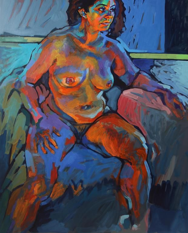 """Saatchi Online Artist: Piotr Antonow; Acrylic, 2012, Painting """"Nude in natural and artificial light"""""""