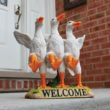 Delightful Dancing Ducks Welcome Sign.
