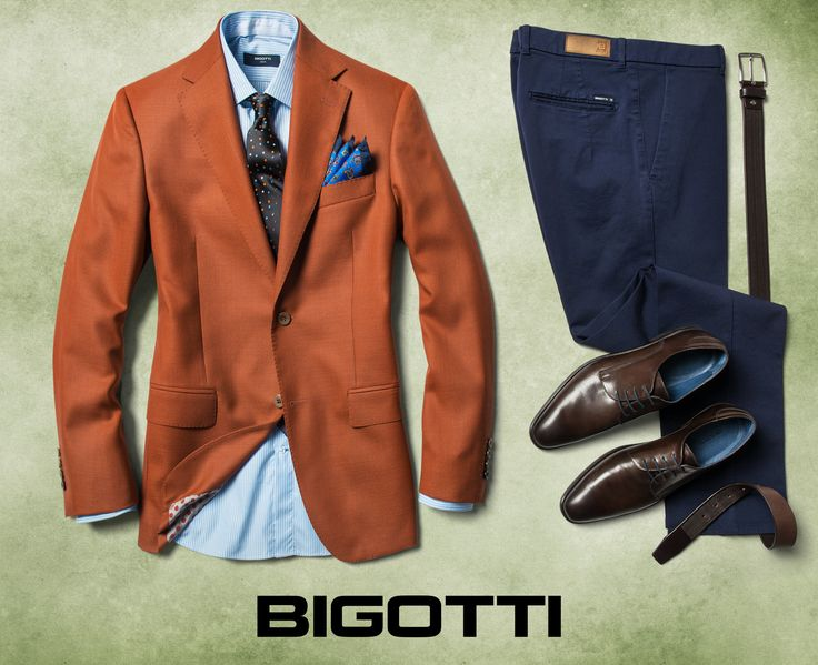#Brick #orange- a #spicy #shade that #adds #intensity and #dynamism to #autumn #days . In #combination with #navy and #blue , #manages to create a #remarkable #look, #welldefined , #sophisticated . The #products are #available in #Bigotti #men #clothing #stores and on www.bigotti.ro