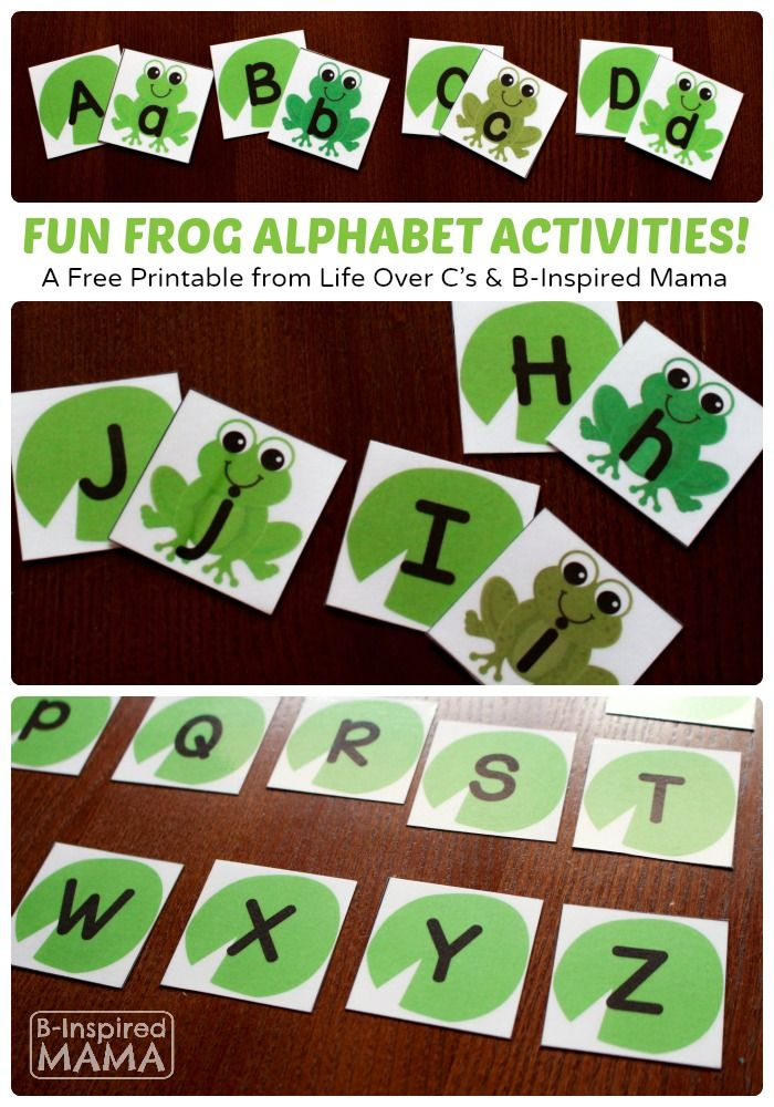 Free Frog Printable Alphabet Activities fpr Prschool Learning at B-Inspired Mama