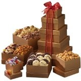 Broadway Basketeers Gift Tower of Sweets (Grocery)By Broadway Basketeers