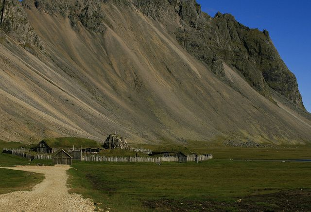 A viking village in Iceland