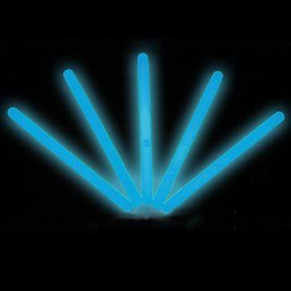 """6"""" Lumistick Glow Stick Light Sticks Blue (Tube of 25) by Lumistick. $11.99. The best brand of glow sticks on the market. You will receive 1 tube of 25 LumiStick luminescent light sticks. Your order will also contain 25 strings so you can wear them as a necklace or hang them anywhere you want. Once they start glowing, LumiStick brand Premium glow light sticks will last you all night. They will glow super bright for 8 - 12 hours. Then, they will start to fade out but may contin..."""