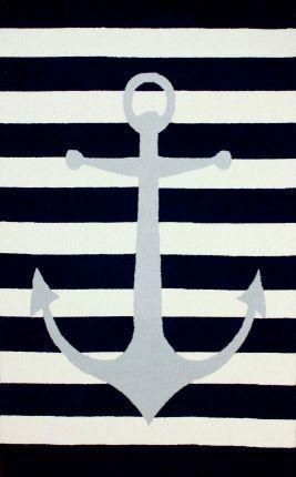 Rugs+USA+Homespun+Anchor+Striped+Rug