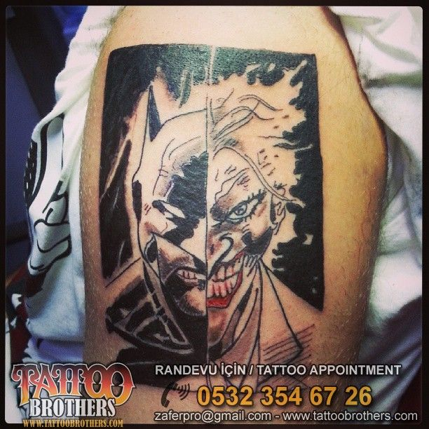 Batman & Joket Dövmesi _ Tattoo By Tattoobrothers Dövme Stüdyosu Moda / Kadıköy GSM:0532 354 67 26
