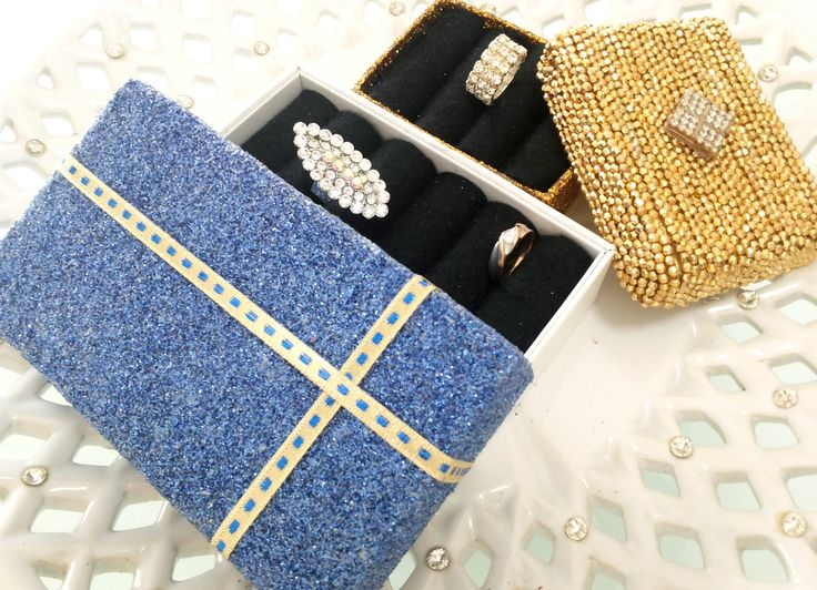 Creative craft - DIY : Recycle unused box into jewellery box