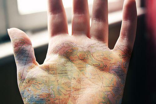 Travel.: Book Club, The Roads, Wanderlust Tattoo, Girly Things, Travel Tips, Maps Tattoo, Hands Tattoo, Palms, The World