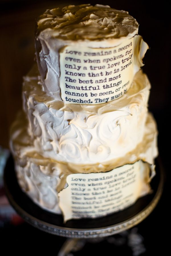 I don't usually pin wedding things, but it's a LIBRARY WEDDING CAKE. I love this.