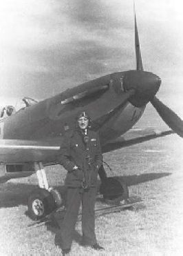 """Flying from RAF Bibury on his final sortie with No 92 Squadron RAF at 18.00 on 25 August 1940, F/L Roland RS """"Bob"""" Tuck claimed a Do 215 that crashed into the sea off St Gowan's Head. Damaged by return fire, Spitfire Mk I QJ-Y glided 15m to the coast on a dead engine and force-landed in a field 20 minutes later. Slightly injured in the leg and unfit to fly for 3 days, the 24-year-old B Flight leader saw A Flight return to RAF Pembrey 2 days later."""