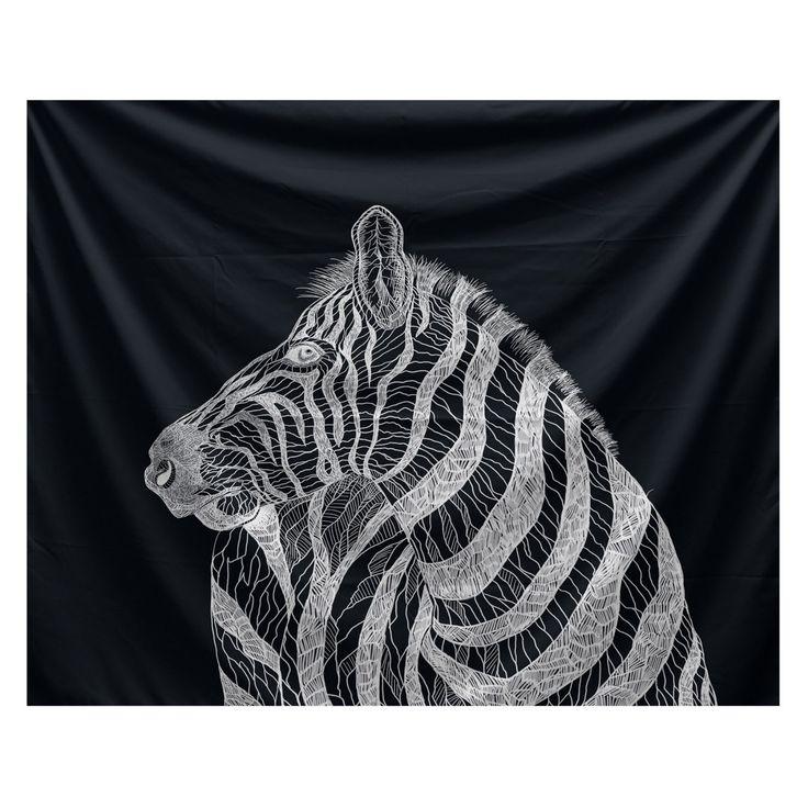 E By Design Animal Magnetism La Cebra Wall Tapestry - TYA168BK1W-50