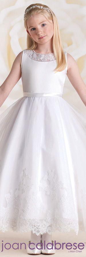 Joan Calabrese for Mon Cheri - Style No. 115318 #flowergirldresses calabresegirl.com