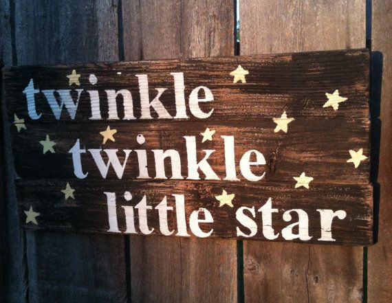 Twinkle twinkle little star song quote reclaimed by emc2squared, $27.50