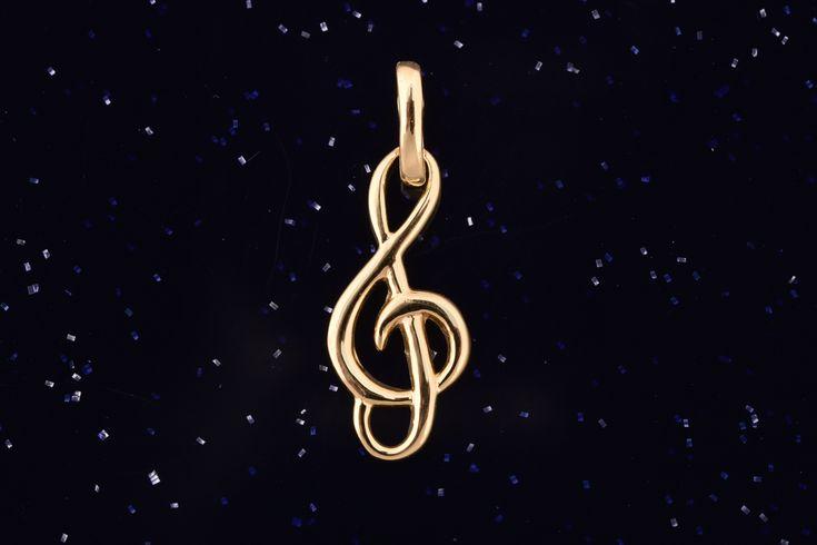 Zlatý přívěsek houslový klíč P030 0,60g