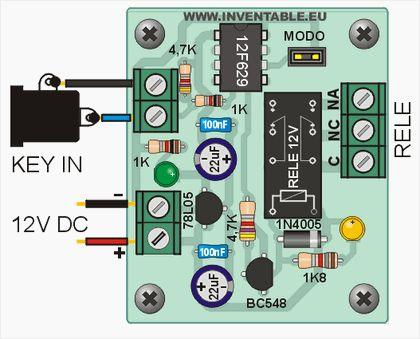 Http://www.inventable.eu/media/52_PicKey/PicKey06.jpg. Esta es una llave electrónica de bajo costo que puede ser usada en distintas aplicaciones. Está pensada para su realización artesanal pues el código numérico se puede definir solo a nivel de...