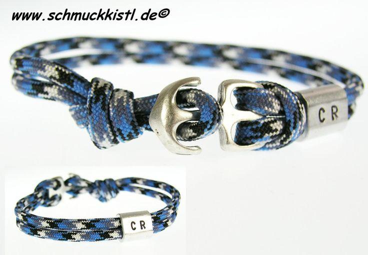 Anker Armband Gravur Geschenk von Schmuckkistl auf DaWanda.com