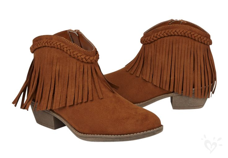 Fringe booties pair perfectly with jeans, shorts, skirts ...