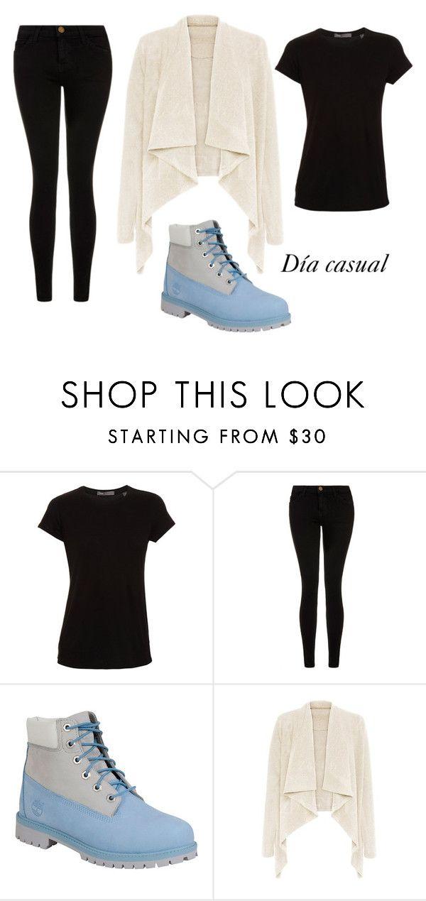 Jean color negro, camiseta Dior color negra con el cardigan color crema y las timberland azules cielo. Le agregue una cinta negra, recogida como un tocado.