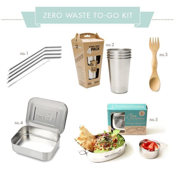Zero waste to-go kit