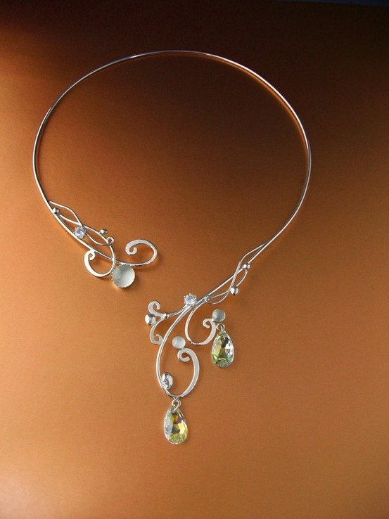 Moonlight Torc Necklace Silver Sterling by luella