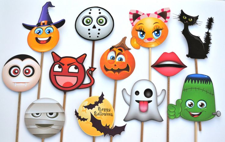 Halloween Emoji Photo Booth Prop. Great Halloween Party activity! Price Cut! by…