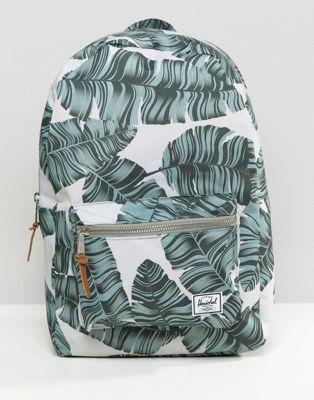 9e5f9e2c226 Herschel Supply Co Settlement Backpack in Palm Print