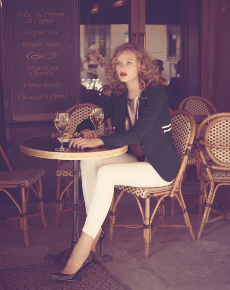 wow, gorgeous.  Love the blazer and the white pants (especially the white stripe on the blazer)