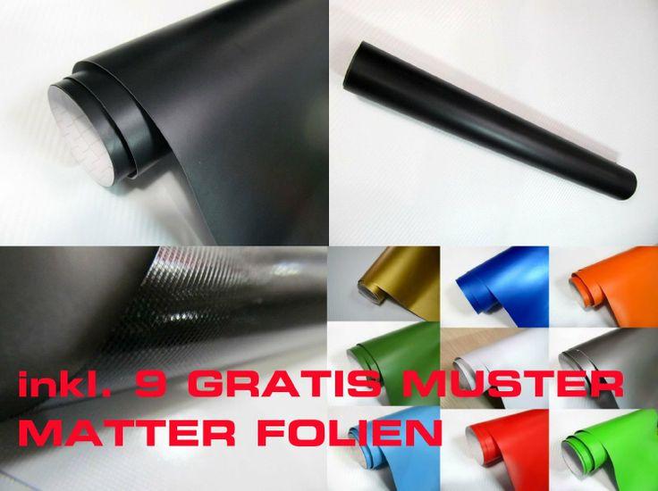 Auto Folie -- schwarz matt -- 100 x 152 cm folieren (= 7 Euro/qm incl. MWST zzgl. Versand) Vollverklebung blasenfrei mit Luftkanälen Wrappin...