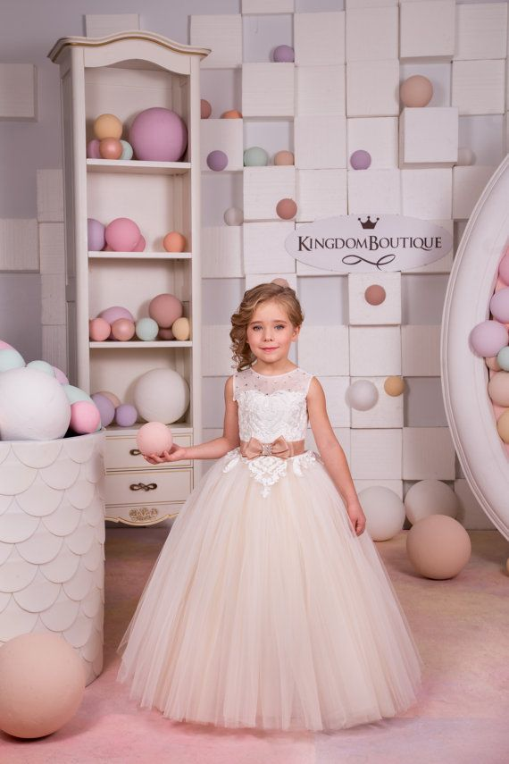 Ivory and Beige Flower Girl Dress - just too perfect!