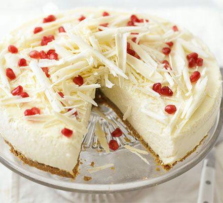 White chocolate & ricotta cheesecake