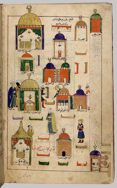 Yaprak Futuh el-haremeyn-i şerifeyn (İki Açıklaması Kutsal Şehirler Mekke ve Medine), 16. yüzyıl ortalarında; Osmanlı