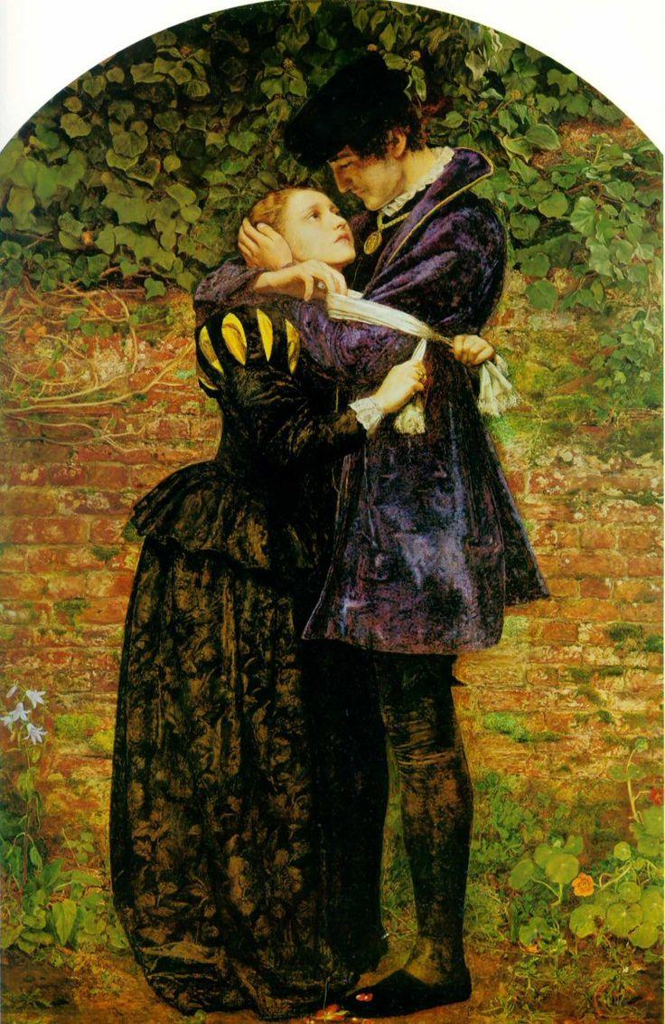 John Everett Millais - Huguenot lovers on St. Bartholomew's Day 1852