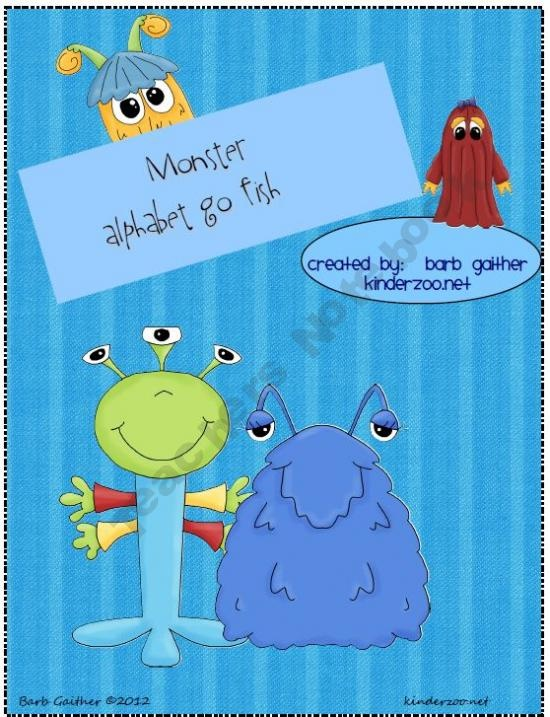 Kinderzoo Shop - | Teachers NotebookSight Words Games, Monsters Alphabet, Teachers Notebooks, Fish Games, Teachersnotebook Com 12, Classroom Ideas, Products, Sight Word Games, Monsters Sight