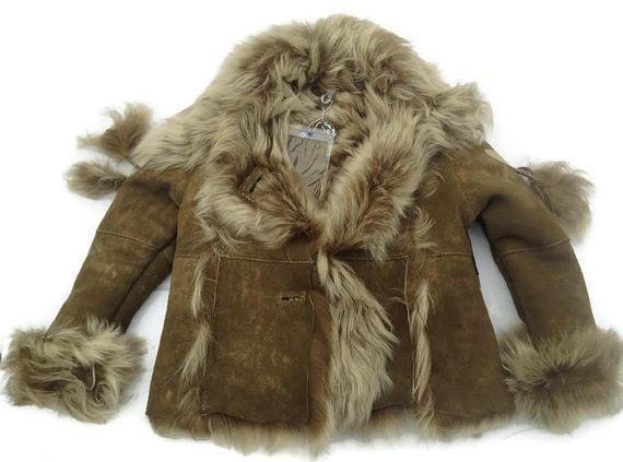 FREE SHIPPING Shearling Coat Sheepskin Coat Kid by TrixiCookies