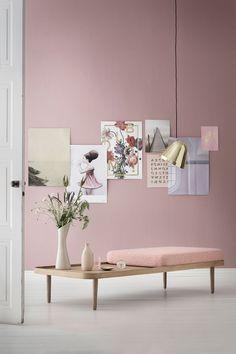 Home decor and design inspirations in Pantone 2016 interiors in Rose Quartz and Serenity