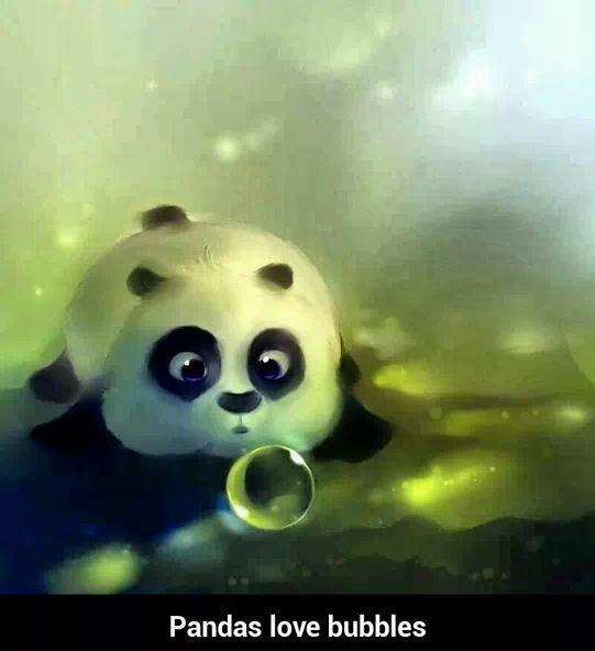 Pandas Love Bubbles