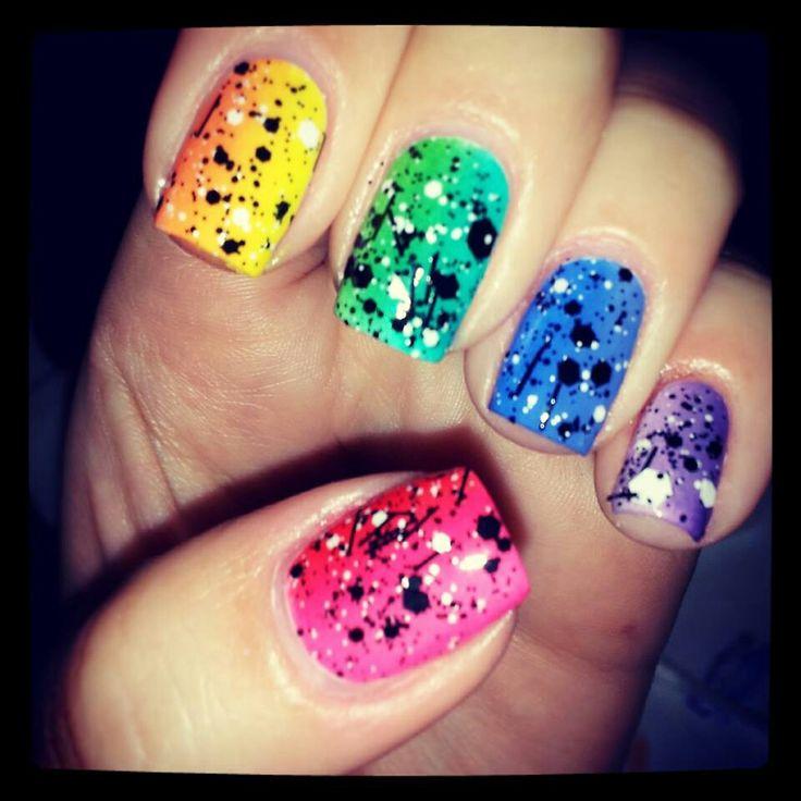 Splatter Paint Nails Hd Images Pin Wallpaper
