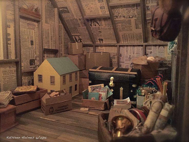 Kathleen Holmes' dollhouse attic