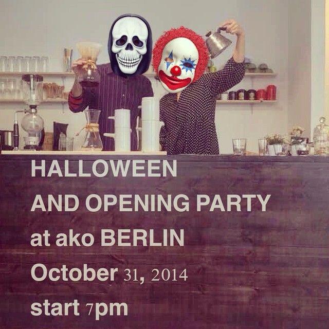 See you soon at #akoberlin #halloween #berlin #cafe #party #베를린 #ako